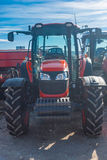 Agricultural machinery. Agro-technology. Front view of the new s Royalty Free Stock Image