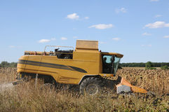 Agricultural machinery (combine) in harvest Royalty Free Stock Photography