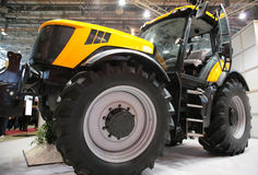 Agricultural machinery on exhibition stock images