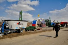 Agricultural machinery exhibition. Tyumen. Russia Stock Photo
