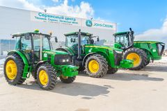 Agricultural machinery exhibition. Tyumen. Russia Royalty Free Stock Photography