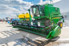 Agricultural machinery exhibition. Tyumen. Russia Stock Images