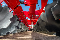 Agricultural machinery in fair. Agricultural machinery in agricultural fair Royalty Free Stock Photo