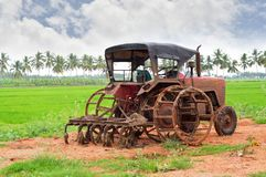 Agricultural Machinery, Field, Tractor, Agriculture stock photography