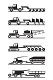 Agricultural machinery icon set Royalty Free Stock Images