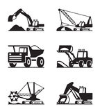 Agricultural machinery icon set Royalty Free Stock Photos