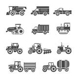 Agricultural machinery icons Stock Photography