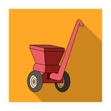 Agricultural Machinery .The machine for cutting agricultural hay.Agricultural Machinery single icon in flat style vector Royalty Free Stock Photography