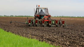 Agricultural machinery in operation stock footage