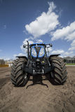 Agricultural machinery. On the rural landscape and new technologies Stock Photography