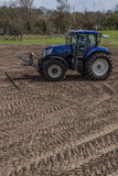 Agricultural machinery. On the rural landscape and new technologies Stock Image