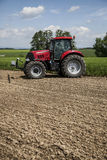 Agricultural machinery. On the rural landscape and new technologies Royalty Free Stock Photo