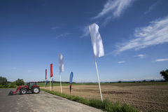 Agricultural machinery. On the rural landscape and new technologies Stock Images