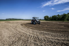 Agricultural machinery. On the rural landscape and new technologies Stock Photos