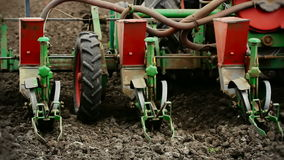 Agricultural machinery- seeder stock video