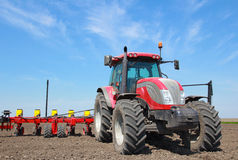 Agricultural machinery, sowing Royalty Free Stock Image