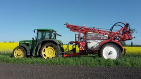 Agricultural Machinery, Tractor, Agriculture, Field royalty free stock photos