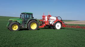 Agricultural Machinery, Tractor, Agriculture, Field royalty free stock image