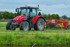 Agricultural Machinery, Tractor, Field, Agriculture stock photo