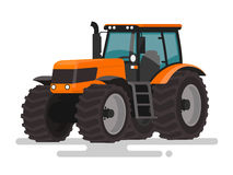 Agricultural machinery. The tractor on a white background. Vecto Royalty Free Stock Image