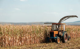 Agricultural machinery, work in the field. Royalty Free Stock Image