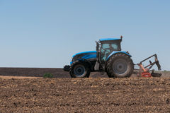 Agricultural machinery, work in the field. Royalty Free Stock Photography