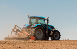 Agricultural machinery, work in the field. Stock Images