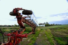 Agricultural multi furrow plough Royalty Free Stock Photography