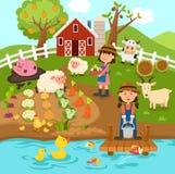 Agricultural production,rural landscape.illustration. Agricultural production,rural landscape.vector illustration Stock Photography
