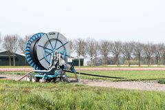 An agricultural pump reel stock images