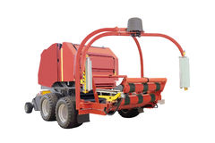 Agricultural round baler Royalty Free Stock Images