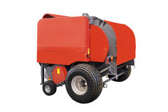Agricultural round baler Stock Photo
