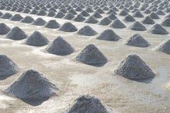 Agricultural salt, Sea salt field. Pile of sea salt, Raw salt field before harvest royalty free stock photo