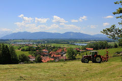 Agricultural scenery, bavarian alps Royalty Free Stock Photos