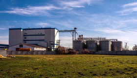 Agricultural silo outdoors Royalty Free Stock Image