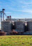Agricultural silo outdoors Stock Photo