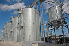 Agricultural Silo - Building Exterior Royalty Free Stock Photo