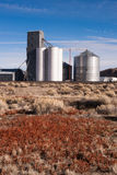 Agricultural Silo Farm Railroad Tracks Grain Elevator Food Grain Royalty Free Stock Photo