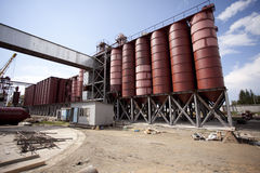 Agricultural silo Royalty Free Stock Photos