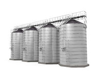 Agricultural Silo Isolated Royalty Free Stock Photo