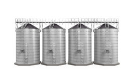 Agricultural Silo Isolated Royalty Free Stock Image