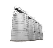 Agricultural Silo Isolated Royalty Free Stock Photos