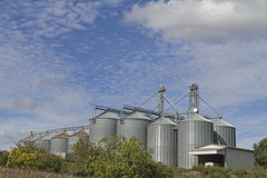 Agricultural silos Stock Photo