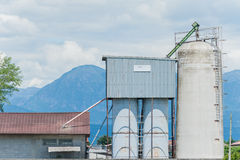 Agricultural silos Stock Photography