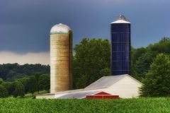 Agricultural Silos of Rural West Virginia stock photo