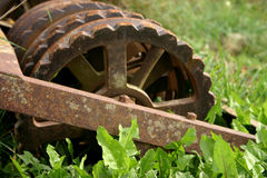 Agricultural still life. Agricultural tool, old and rusty royalty free stock photo
