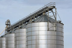 Agricultural storage tanks Royalty Free Stock Photo