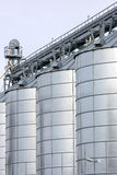 Agricultural storage tanks Royalty Free Stock Images