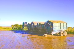 Agricultural storage trailers Stock Images