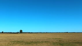 Agricultural stubble field after harvest stock video footage